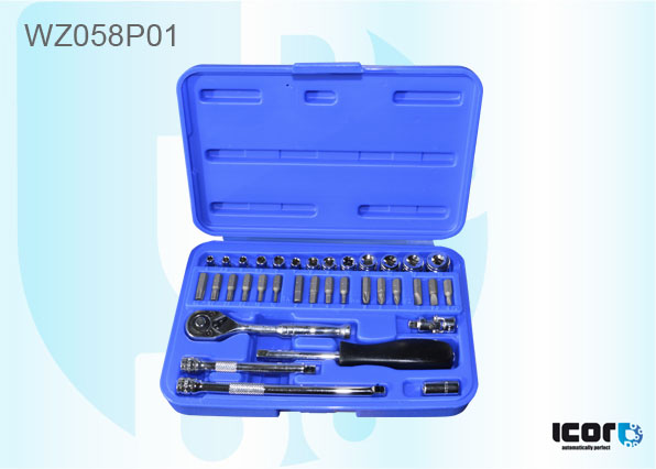 "WZ058P01 <h2 class=""AHS12B"" lang=""en"">35 PIECES 1⁄4 SOCKET AND SCREWDRIVER SET</h2><br /><h2 class=""AHS12B"" lang=""de"">SCHRAUBENDREHER-SET - 35 TLG</h2><br /><h2 class=""AHS12B"" lang=""fr"">SET 35 PIECES CLIQUET 1⁄4 ET EMBOUTS TOURNEVIS</h2><br /><h2 class=""AHS12B"" lang=""es"">CAJA DE DESTORNILLADOR PORTA-CONTERA C⁄TRINQUETE-</h2><br /><h2 class=""AHS12B"" lang=""nl"">35 DELIGE SCHROEVENDRAAIER SET</h2><br />"